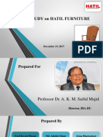 Case Study on HATIL Furniture