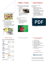 developmental project- high- executive summary brochure