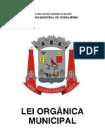 Lei Organica Da Cm - Atualizada 2016