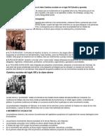 Cambios Sociales Del Siglo XIX Aprincipios de 1920. TEMA 2