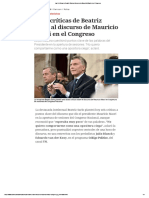 Las 6 Críticas de Beatriz Sarlo Al Discurso de Mauricio Macri en El Congreso