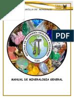 Manual de Mineralogia General - Cartilla de Minerales