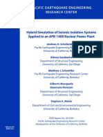 Hybrid Simulation of Seismic Isolation Systems Applied to an APR-1400 Nuclear Power Plant