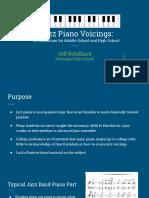 IBA 2017 RobilliardJazz Piano Curriculum