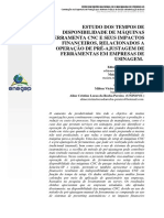 Estudos Dos Tempos de Disponibilidade de Maquinas Ferramentas CNC e Seus Impactos Financeiros.