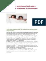 Estadisticas Actuales Del País Sobre Problemas o Infeciones en Transmicion Sexual