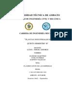 Consulta 1 Clasificacion de Empresas