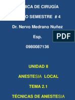 Anestesia Tecnicas III