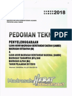 Pedoman Teknis UAMBD-UAMBN Tahun 2018