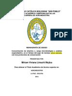CONSERVACIÓN DEL JUGO DE NARANJA MEDIANTE 3 PROTOCOLO