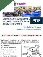 Desinfección de Sistemas de Agua Potable y Cloración