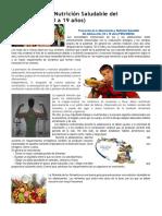 Alimentación y Nutrición Saludable Del Adolescente