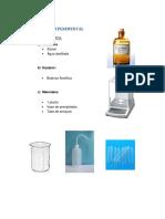 Parte Experimental de Determinacion de Densidad de Liquidos