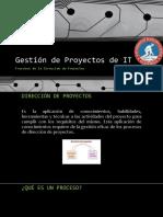 3 Procesos de La Dirección de Proyectos