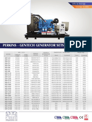 KZPOWER-Perkins-Gentech-Genset-Range-Catalogue pdf