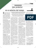 Principio Protector en El Derecho Laboral - Autor José María Pacori Cari