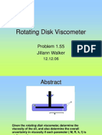Rotating Disk Viscometer