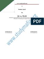 CSE 3g vs Wifi Report