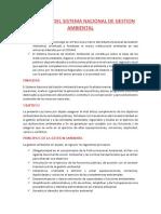 Ley Marco Del Sistema Nacional de Gestion Ambiental