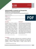 Historicidade e Contexto Em Perspectiva Histórica e Comunicacional MARIALVA E ANA REGINA