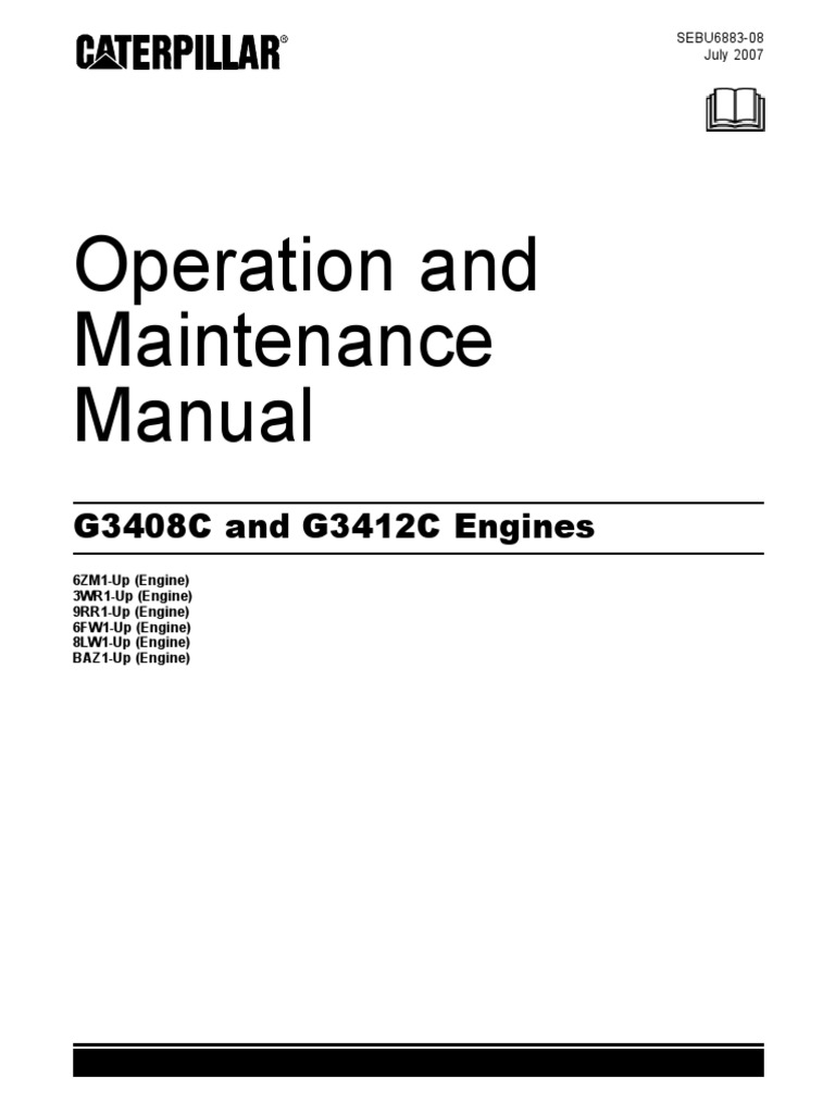 Operation and Maintenance Manual - G3408 and G3412 Engines - 2007 July    Dust   Coolant