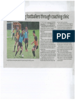 Article InspiringYoungFootballersThroughCoachingClinic