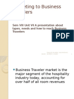 2014 SEM VIII UNIT VII Marketing to Business Travelers