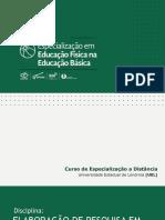 Esp EDFISEB ElaboraçãodePesquisaemEducaçãoFísicaEscolar UNI3 1