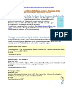 d. Chicago Manual of Style Author-Date System Style Guide B16