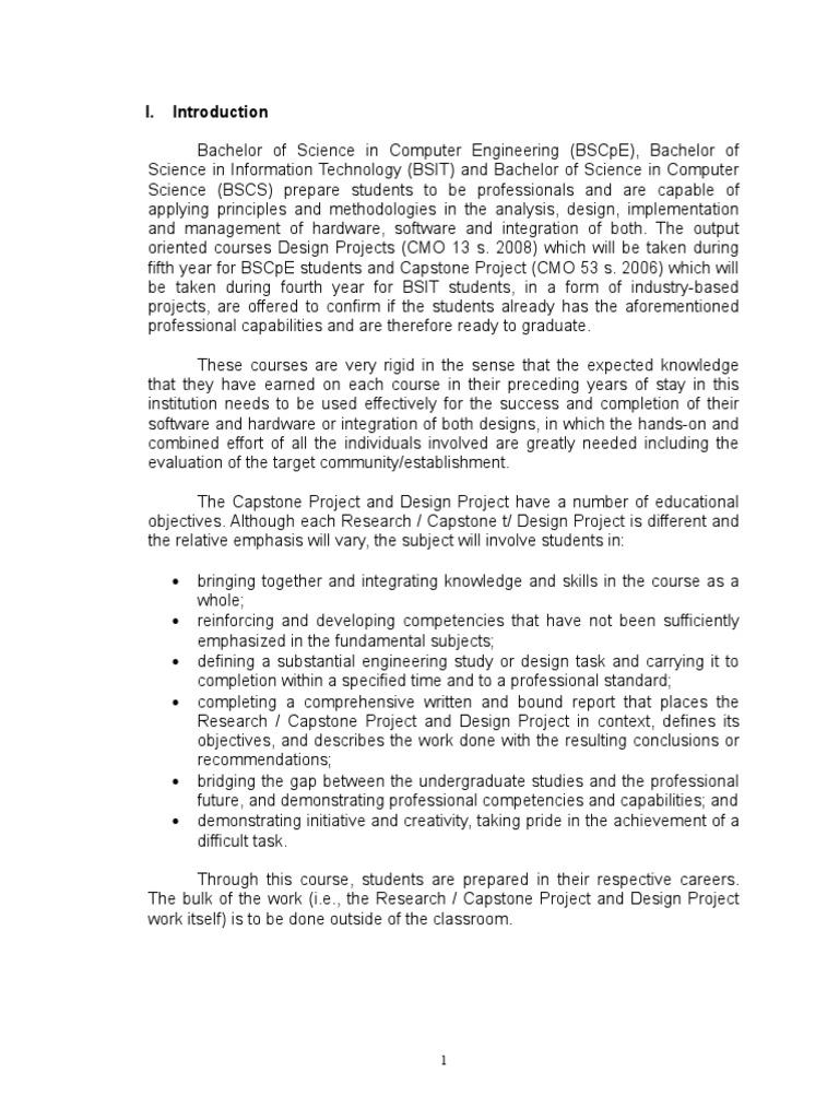 bsit capstone project proposal