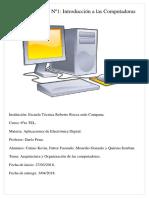 Digitales 6to TEL - Trabajo Práctico Nº1 - Introducción a Las Computadoras