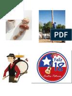 Celebración fiestas patrias Chile, ilustraciones