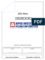 Jee-mains Test Paper - 01