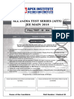 Jee-mains Test Paper - 04