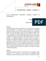 Articulo - Democracia Agonista vs. Democracia Deliberativa
