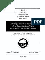 Estrategia biodiversidad bosques Ecuador