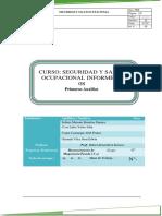 Informe 8 Seguridad y Salud Ocupacional