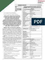 Resolución Legislativa que modifica el Anexo de la Resolución Legislativa 30724 Resolución Legislativa que autoriza el ingreso de personal militar extranjero al territorio de la República de acuerdo con el Programa de Actividades Operacionales de las Fuerzas Armadas del Perú con Fuerzas Armadas Extranjeras correspondiente al año 2018 en el extremo referido a los meses de abril mayo y junio del año 2018