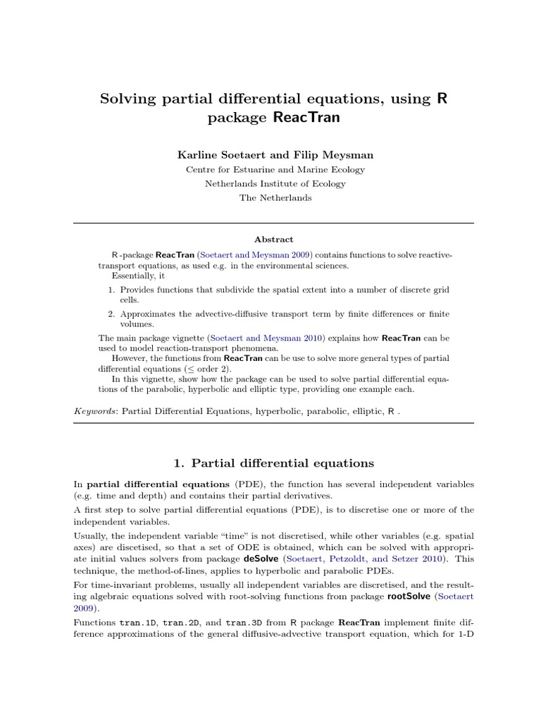 PDE Using R Package | Partial Differential Equation | Equations