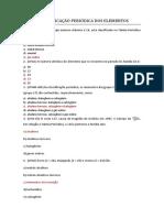 A Classificação Periódica Dos Elementos