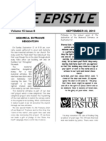 September 2010 Epistle