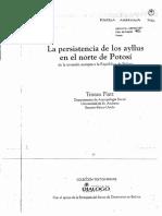Platt, T. - La Persistencia de Los Ayllus en El Norte de Potosí