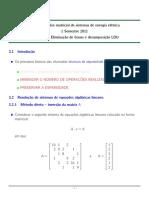 Cap 3 Eliminacao de Gauss e LDU