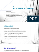 Alternating Voltage and Current
