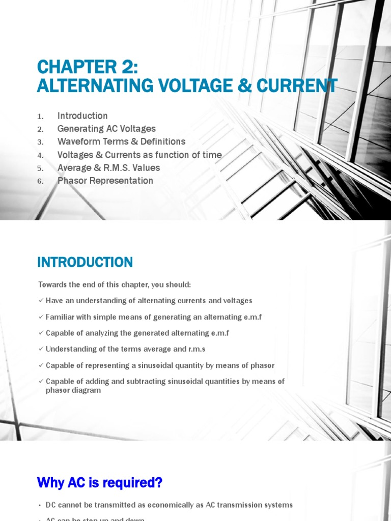 Alternating Voltage And Current Root Mean Square Diagram