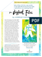 The Bigfoot Files by Lindsay Eagar Press Release