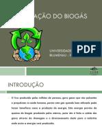 Purificação Do Biogás