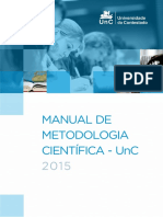 Manual de Metodologia Científica da Universidade do Contestado (2015)