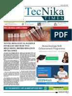 Biotecnika - Newspaper 13 March 2018