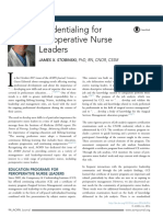 Credentialing for Perioperative Nurse Leaders